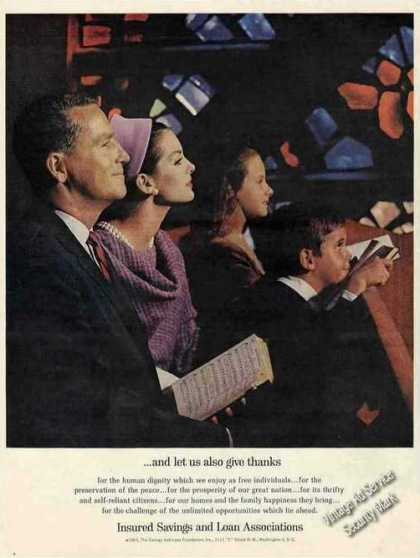 """...and Let Us Also Give Thanks"" Insured S&l (1963)"