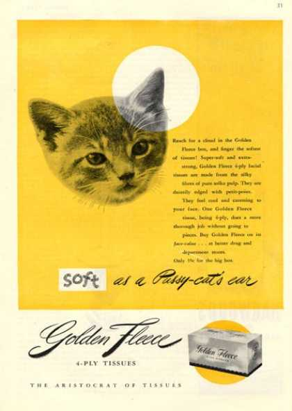 Golden Fleece Tissues Cat (1946)