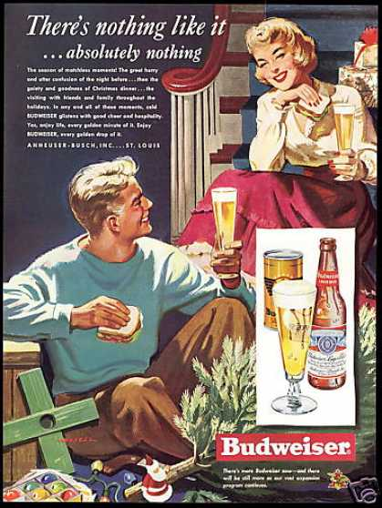 Budweiser Beer Christmas Decorations Art (1949)