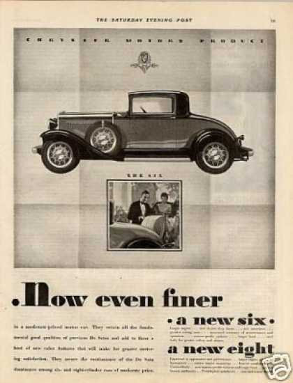 Desoto Six & Eight Cars Ad 2 Page (1931)