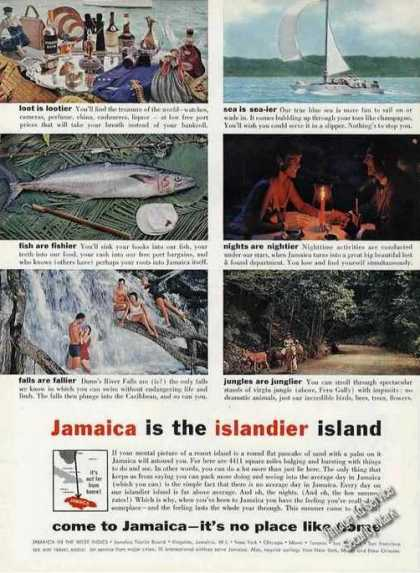 """Jamaica Is the Islandier Island"" Nice Photos (1960)"