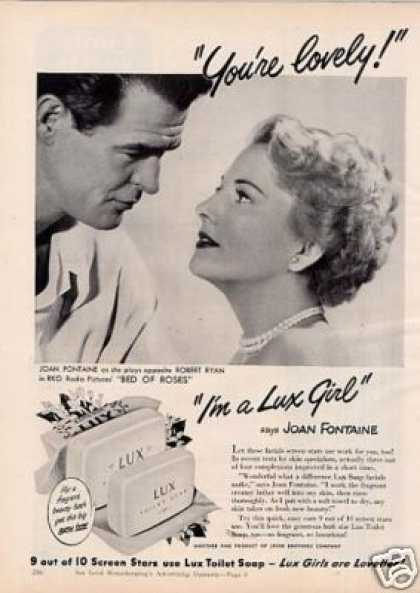 Lux Soap Ad Joan Fontaine/robert Ryan (1950)