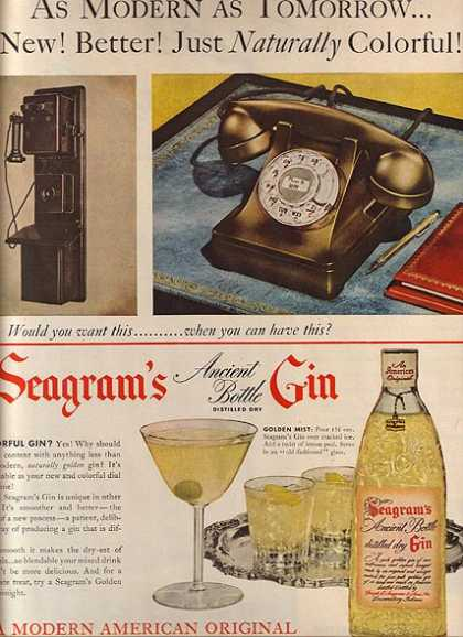 Seagram's Ancient Bottle Distilled Dry Gin (1951)