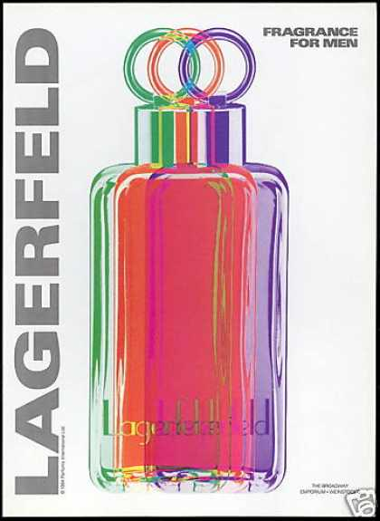 Lagerfeld Mens Fragrance Cologne Bottles (1994)