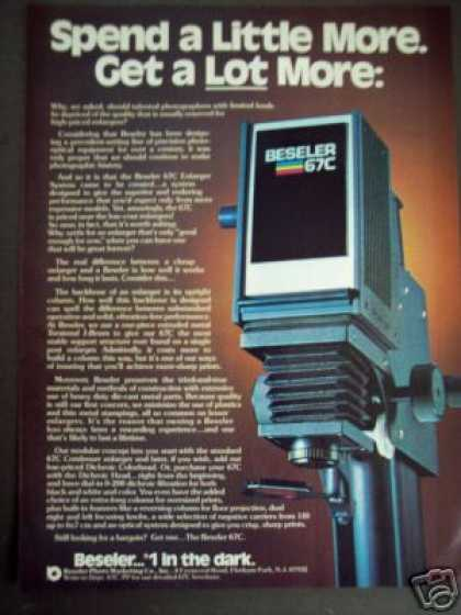 Beseler 67c Photo Enlarger Photography (1978)