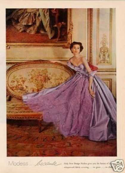 Modess Ad Lady In Purple Gown (1953)