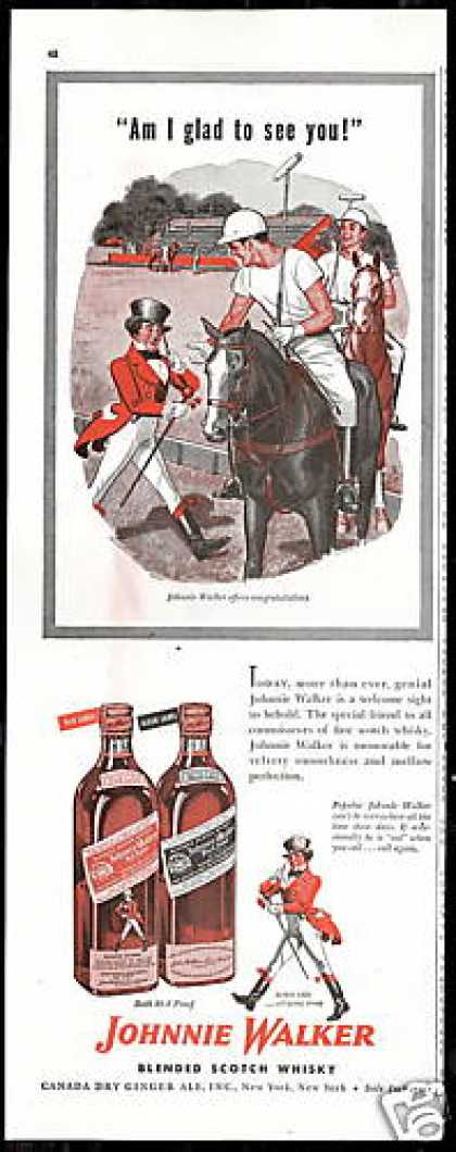 Johnnie Walker Polo Pony Players Scotch (1947)