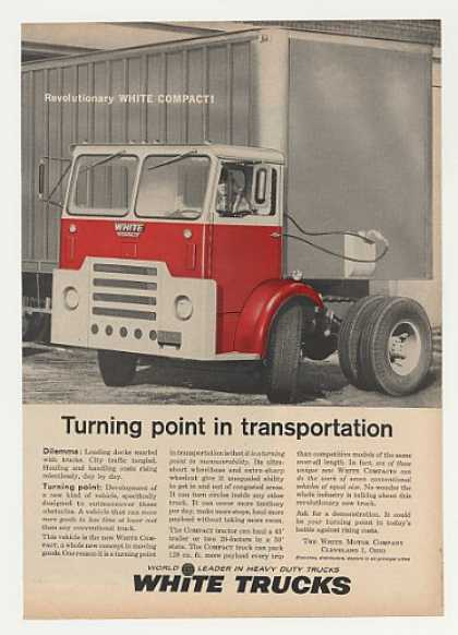 White Compact Tractor Truck Turning Point (1961)