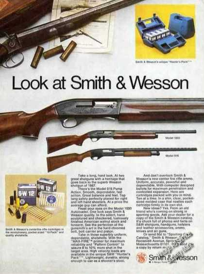 Smith & Wesson Models 916 & 1000 Attractive Gun (1974)
