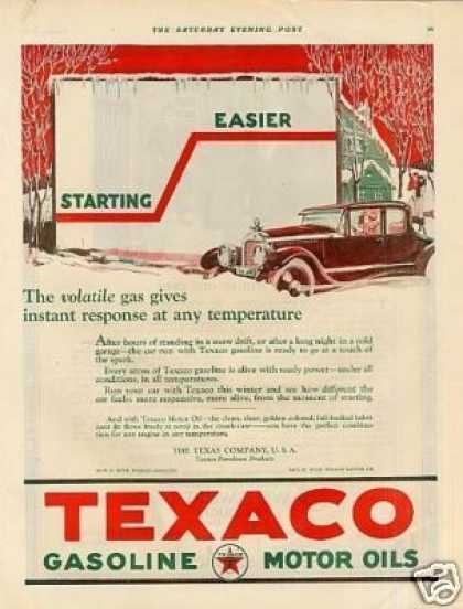 Texaco Gasoline Color (1923)