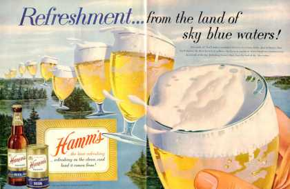 Hamm's Beer Sky Blue Waters Can Bottle (1954)