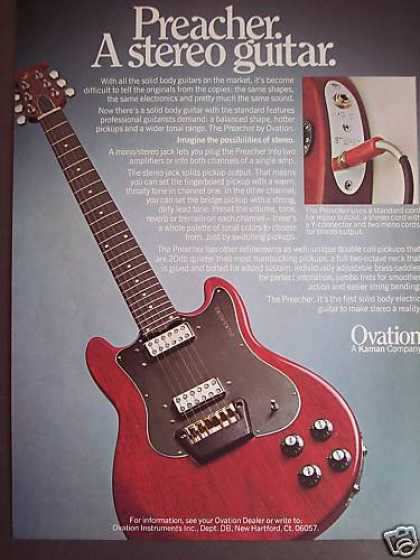 Ovation Preacher Stereo Electric Guitar Photo (1979)