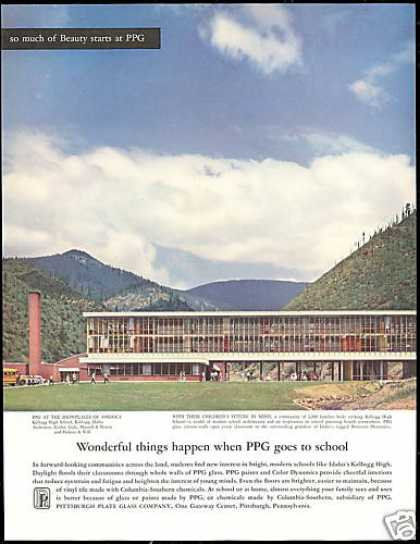 Kellogg High School Idaho Photo PPG Glass (1958)