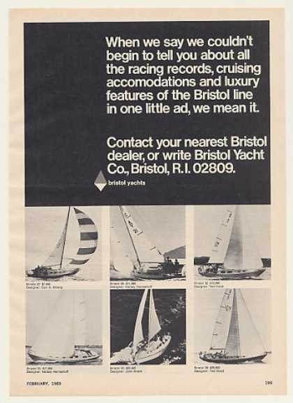 Bristol Yacht 27 29 32 33 35 39 Sailboats Boats (1969)