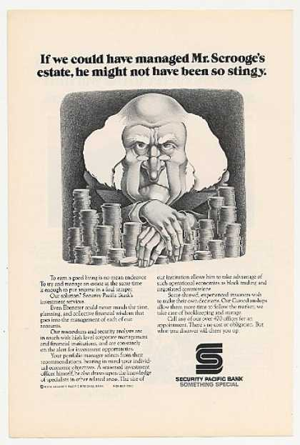Ebenezer Scrooge Security Pacific Bank (1974)