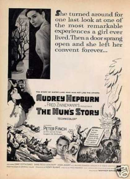 "Movie Ad ""The Nun's Story"" Audrey Hepburn (1959)"