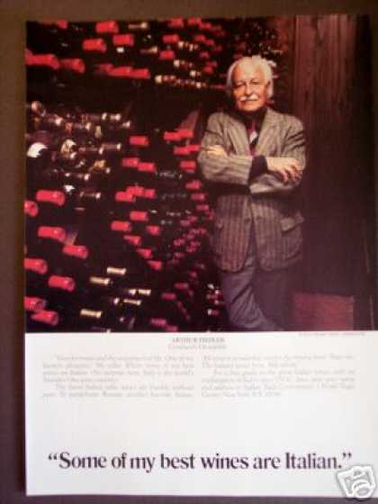 Arthur Fiedler Wine Cellar Photo Italian Wines (1976)