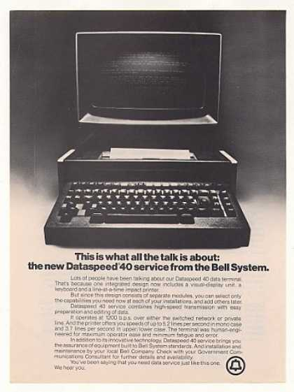 Bell System Dataspeed 40 Computer Service (1975)