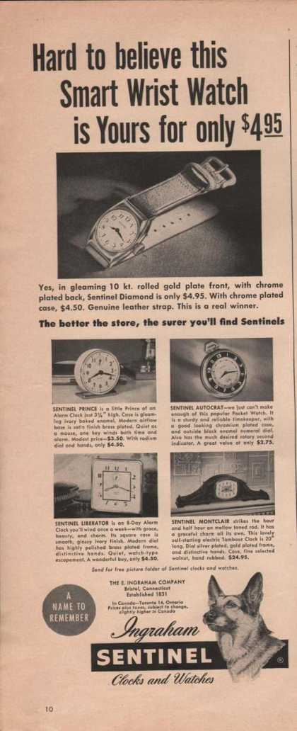Ingraham Sentinel Clocks and Watches (1949)