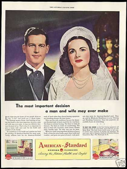 Bride Groom American Standard Heating Plumbing (1946)