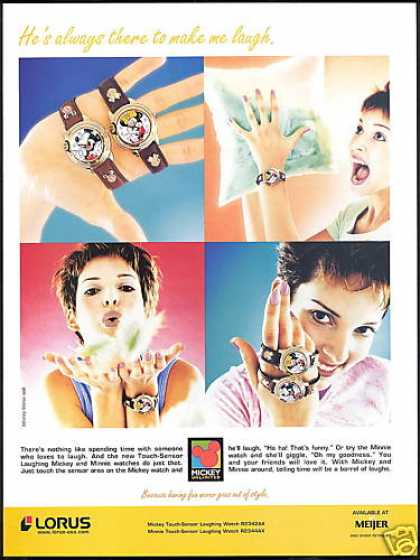 Lorus Disney Minnie Mickey Mouse Watch Photo (1999)