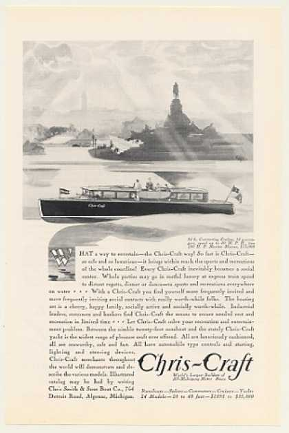Chris-Craft 34-Ft Commuting Cruiser Boat (1930)