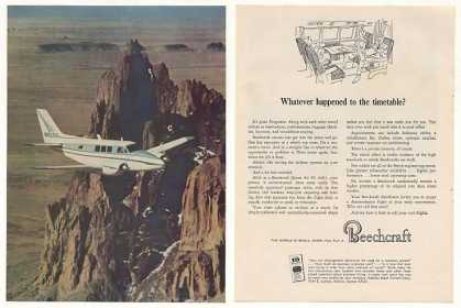 Beechcraft Queen Air 80 Airplane Photo 2-Page (1964)
