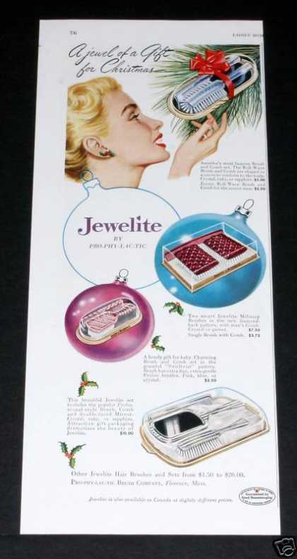 Jewelite Hair Brushes, Xmas (1949)