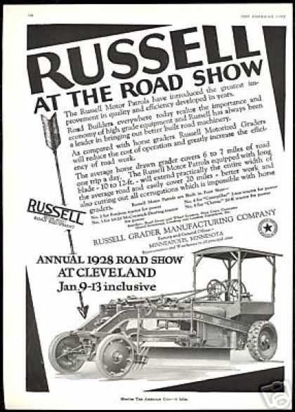 Russell Motor Patrols Motorized Road Grader (1928)