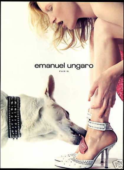 Emanuel Ungaro Shoe Fashion Dog Tongue Photo (2000)
