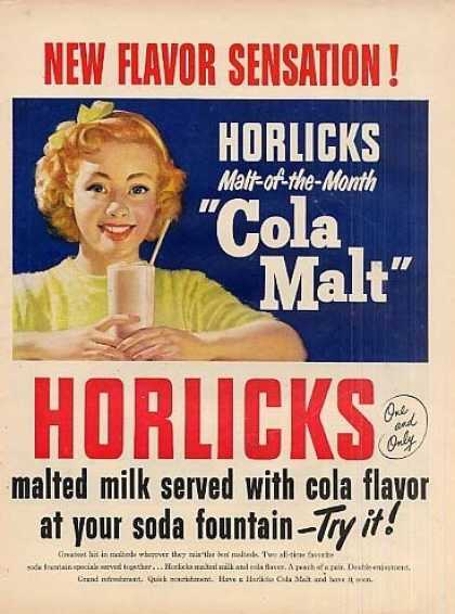 Horlicks Malted Milk (1950)