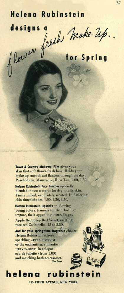 Helena Rubinstein's Various – Helena Rubinstein designs a flower fresh make-up (1943)