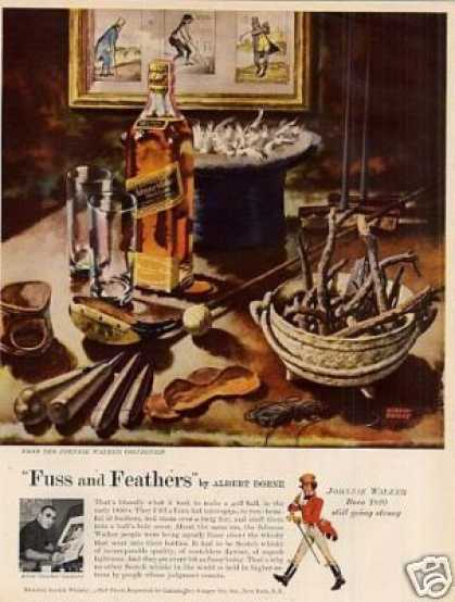 Johnnie Walker Scotch Whisky Ad Albert Dorne Art (1957)