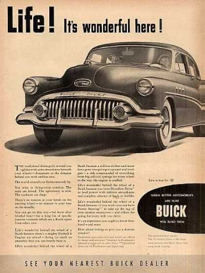 "Buick Car Ad ""Life Is Wonderful Here... (1952)"