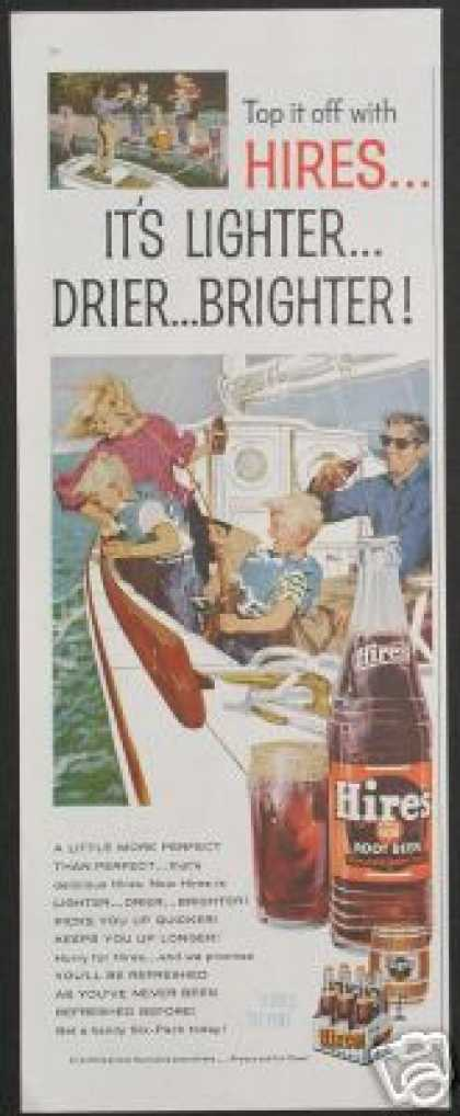 Sailboat Family Vintage Hires Rootbeer (1960)