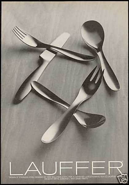 Lauffer Design 9 Stainless Flatware Wallance (1974)