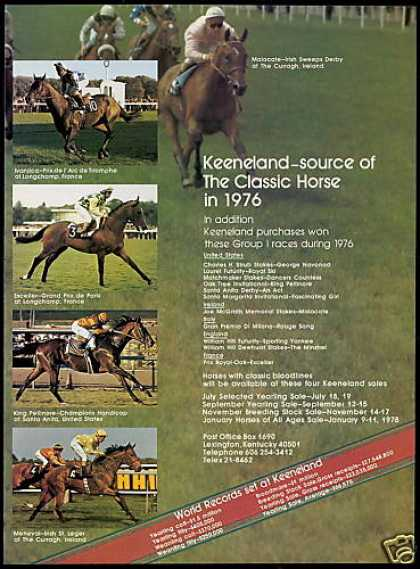 Keeneland Upcoming Horse Sales 1976 Winners (1977)