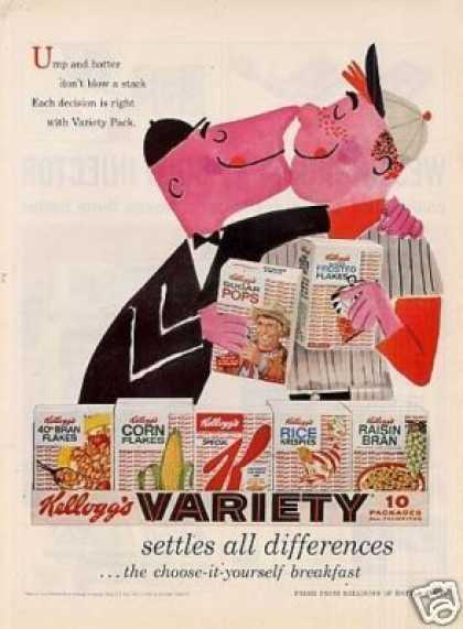 "Kellogg's Variety Cereal Ad ""Ump and Batter... (1958)"