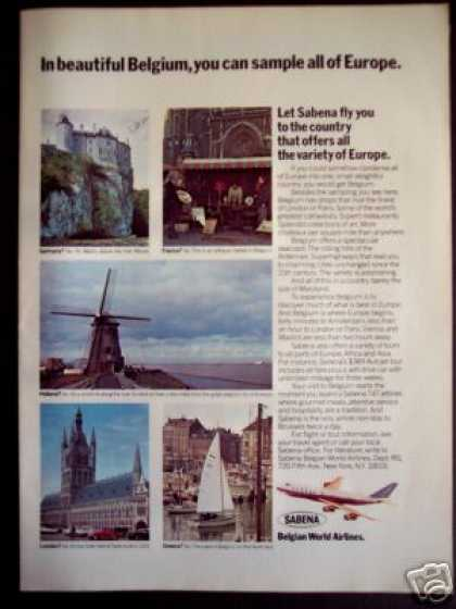 Windmill Photo Sabena Belgian World Airlines (1971)