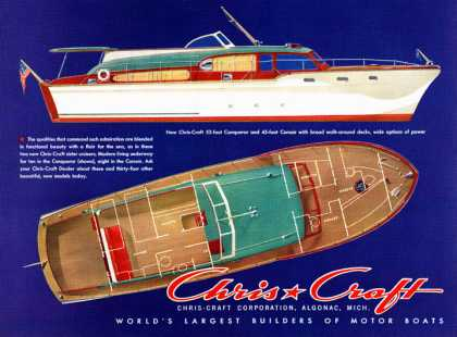 Chris-Craft Conqueror and Corsair cabin cruisers (1953)