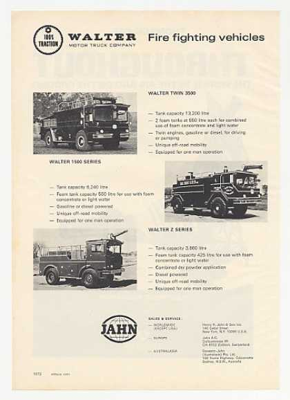 Walter Twin 3500 1500 Z Series CFR Firetrucks (1974)