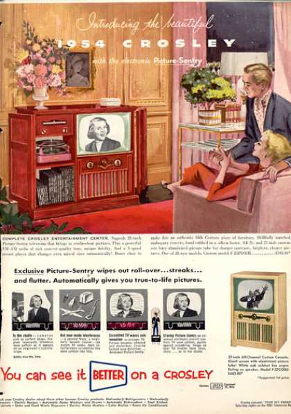 Crosley Tv Phono Radio Entertainment Center (1953)
