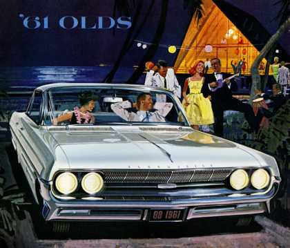 "Tantalizing Beauty . . . Skyrocket ""Go""! Oldsmobile 98 (1961)"
