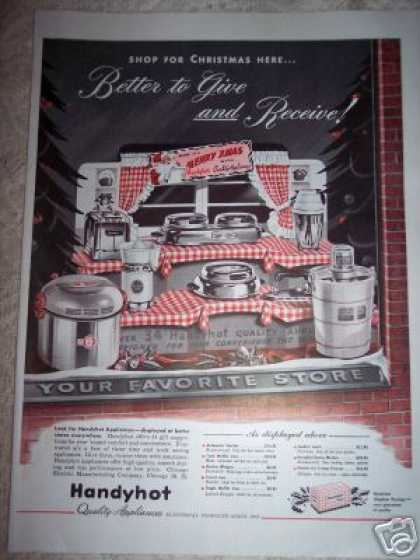 Handyhot Appliances Store Display (1948)