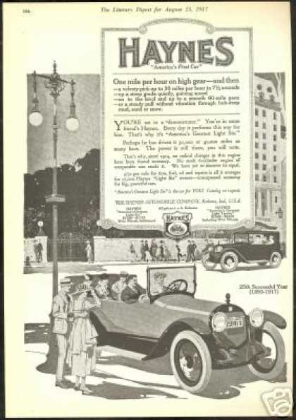 Haynes Americas First Car 25 Anniversary (1917)