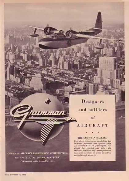 Grumman Aircraft – Mallard over New York (1948)