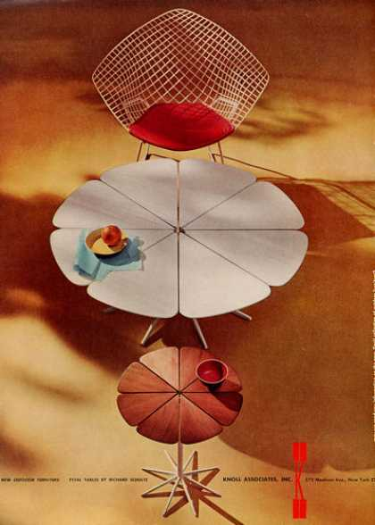 Knoll Pedestal Table Ad Richard Schulz Design (1960)