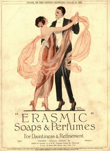 Erasmic Soap Perfume, Evening-Dress Dancing, UK (1920)
