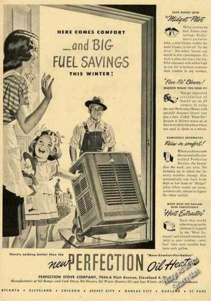 Perfection Oil Heaters Here Come Comfort (1948)