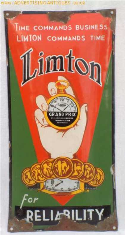 Limton Watches Enamel Sign